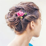 Classic and traditional Quince Hairstyle.