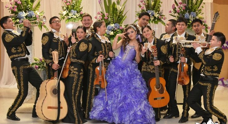 Quinceanera and mariachi