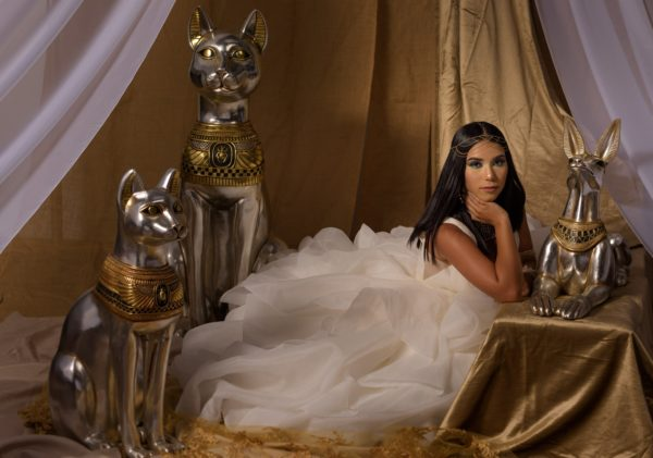 Cleopatra-inspired Quinceanera celebration